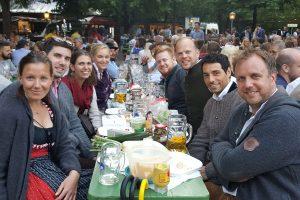 Die acht Unermüdlichen Eva, Michael, Lena, Nina, Frederic, Mark, Marco und Steffen.